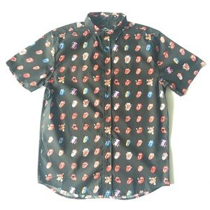 Rolling Stones button down shirt